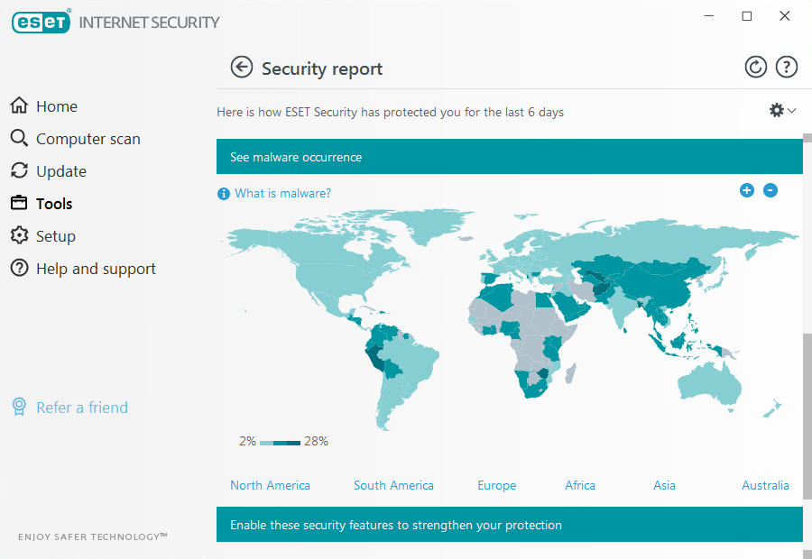 eset internet security interface