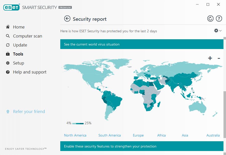 eset smart security premium interface